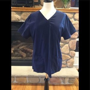 Top and bottom navy blue scrubs